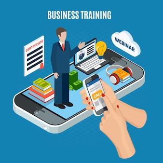 Seminario web isométrico de formación empresarial