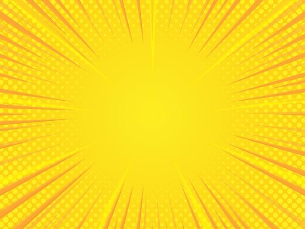 Semitono cómico amarillo abstracto