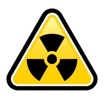 Señal de advertencia de radiación