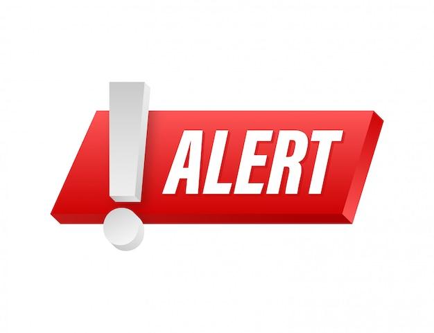 Señal de alerta atención advertencia atacante señal de alerta. concepto de protección de seguridad cibernética de tecnología. ilustración de stock