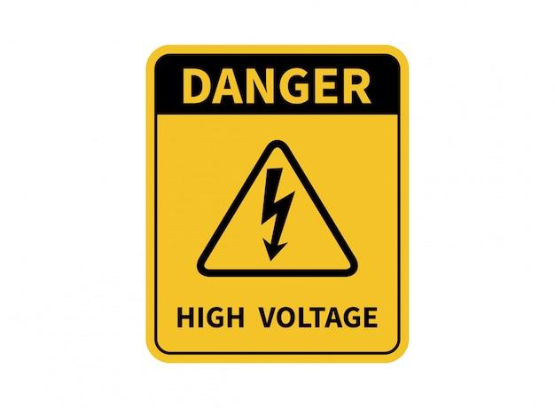 Señal de alta tensión. señal de peligro.
