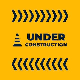 Bajo señal de construcción