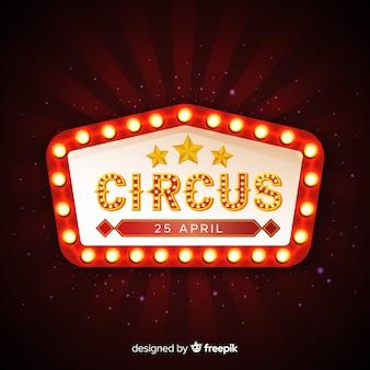 Señal luminosa vintage de circo