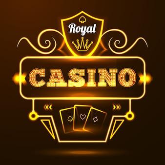 Señal de neón del casino