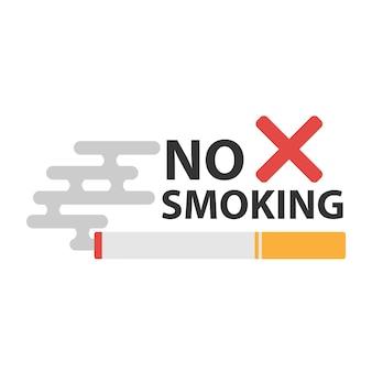 Señal de no fumar. no hay icono de humo. dejar de fumar símbolo