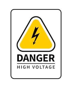 Señal de peligro, alto voltaje.