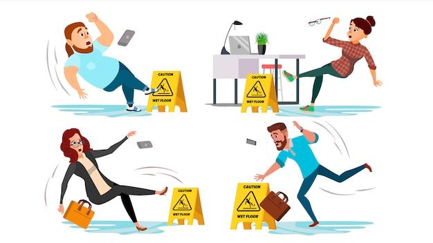 Señal de piso mojado de precaución