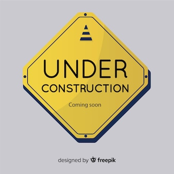 Señal plana en construcción