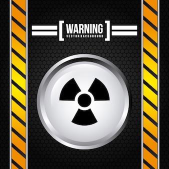 Señal de precaución sobre negro
