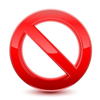 Señal roja prohibida | Vector Premium