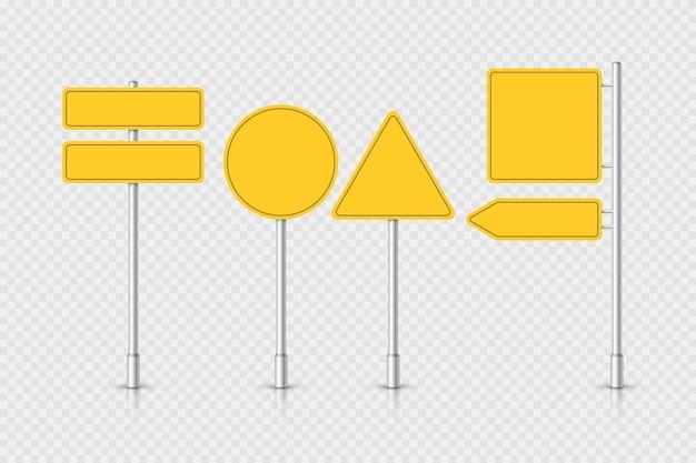 Señal de tráfico verde de maqueta sobre fondo transparente. poste indicador de carretera. tablero en blanco con lugar para el texto. ilustración.