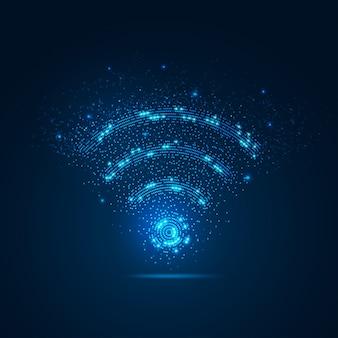 Señal wifi con elemento
