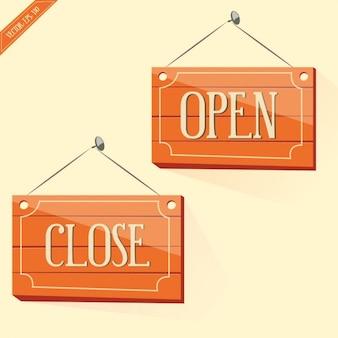 Señales de abierto y cerrado