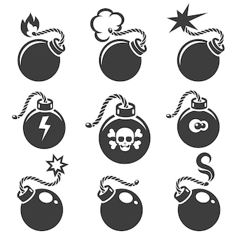 Señales de bombas o símbolos de bombas