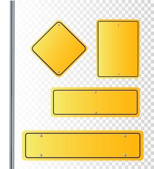 Señales de la calle del vector ilustración del vector de las señales de la calle del camino que apuntan en direcciones opuestas