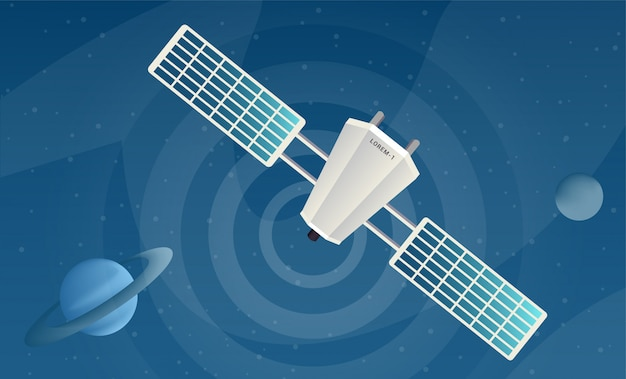 Señales de envío por satélite ilustraciones vectoriales planas