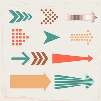 Señales de flechas y direcciones