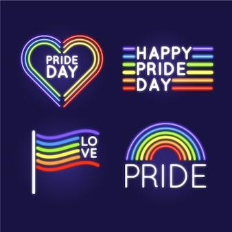 Señales de neón gay y orgullosas
