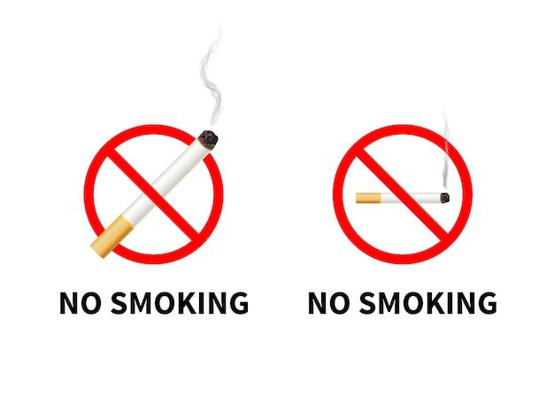 Señales prohibidas de no fumar