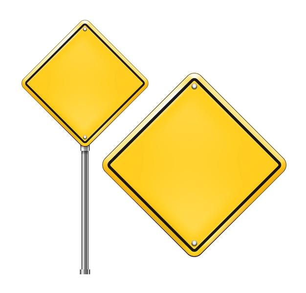 Señales de tráfico en blanco