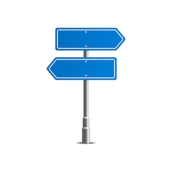 Señales de tráfico de la calle azul. tablero de la calle.