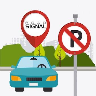 Las señales de tráfico.