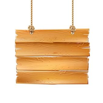 Señalización de letrero de madera 3d letrero entrega en cuerdas