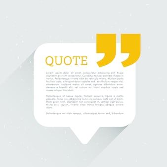 Sencilla plantilla blanca y amarilla para texto