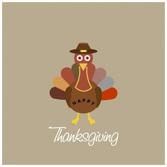 Sencillo fondo con un pavo para el día de acción de gracias