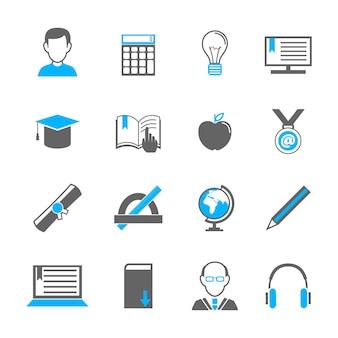 Sencillos iconos de educación