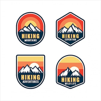 Senderismo aventura wild life logos