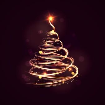 Sendero de luz árbol de navidad