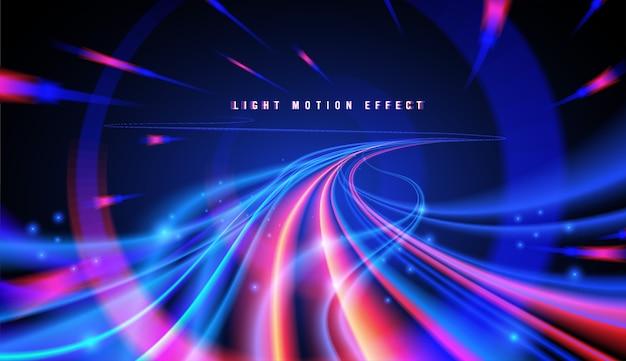 Senderos de luz con curvas abstractas