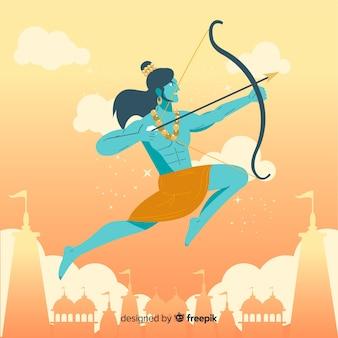 Señor rama con flecha y arco