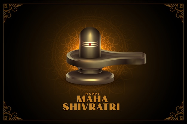 Señor shiva shivling lingam para maha shivratri fondo