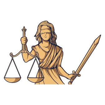 Señora de la justicia themis femida