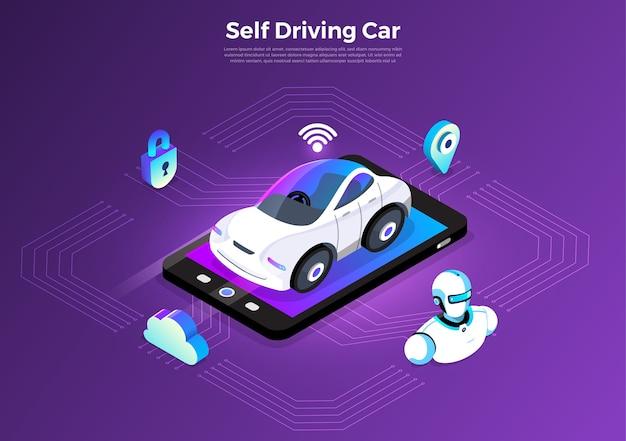 Sensores de automóvil autónomos y autónomos tecnología de vehículos sin conductor smart car