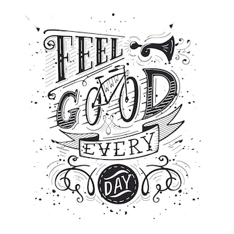 Sentirse bien todos los días blanco y negro