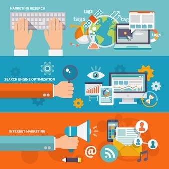 Seo marketing en internet banner