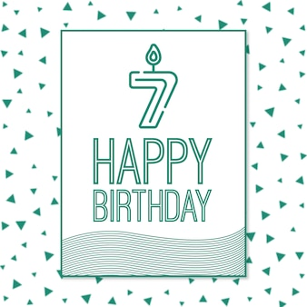 Séptimo cumpleaños feliz fondo