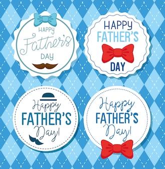 Ser tarjetas de feliz dia del padre con decoracion
