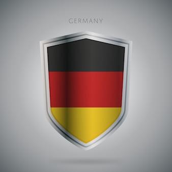 Serie de banderas de europa icono de alemania.