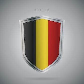 Serie de banderas de europa icono de bélgica.
