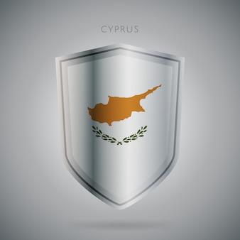 Serie de banderas de europa icono de chipre.