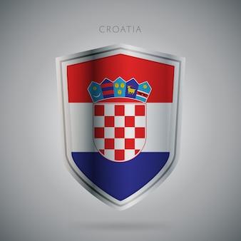 Serie de banderas de europa icono de croacia.