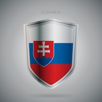 Serie de banderas de europa icono de eslovaquia