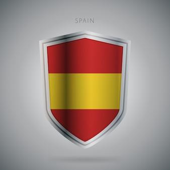 Serie de banderas de europa icono de españa.