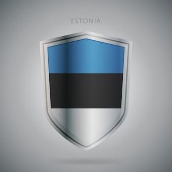 Serie de banderas de europa icono de estonia