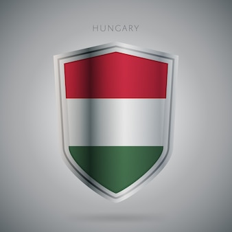 Serie de banderas de europa icono de hungría.