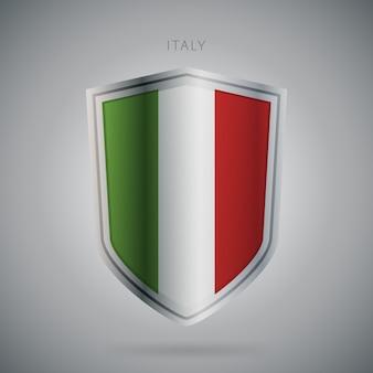 Serie de banderas de europa icono de italia.